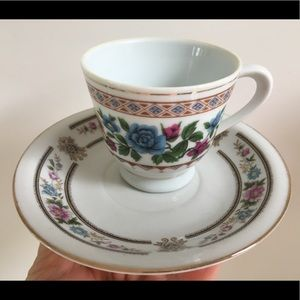 Vintage Demitasse Cup and Saucer Made in China
